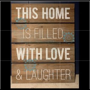 This Home is filled with love & laughter wall art